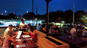 Cameli's Pizza L5P Exterior Rooftop night view Pimsler Hoss Architects