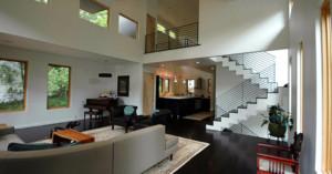 Howard Circle Residence Interior Living Room Pimsler Hoss Architects