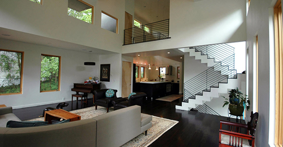 Howard Circle Residence Interior Living Room Pimsler Hoss Architects