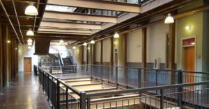 Porterdale Mill Lofts Pimsler Hoss Architects interior main corridor