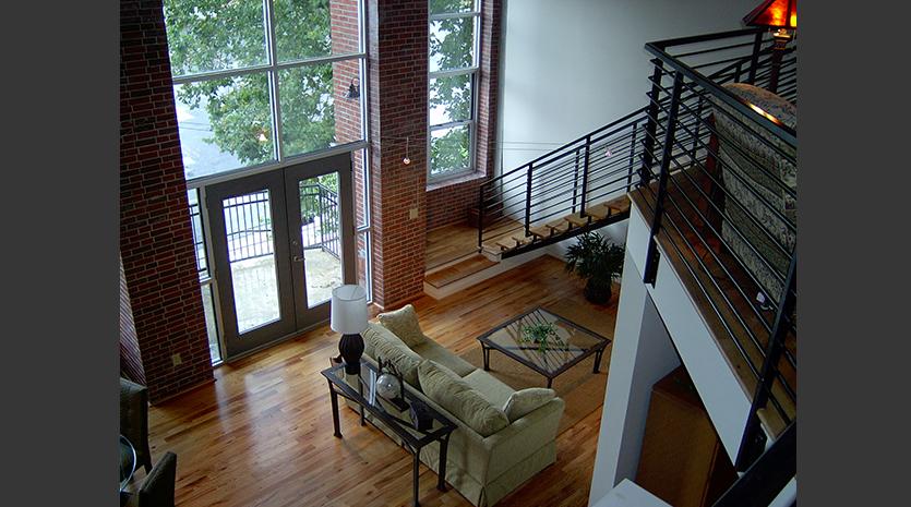 1023 Juniper Lofts - Pimsler Hoss Architects interior living