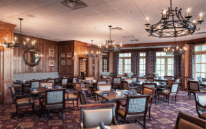 Chattahoochee Country Club in Gainesville, GA interior dining room