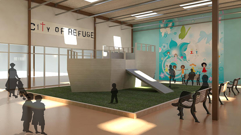City of Refuge Interior - Playarea