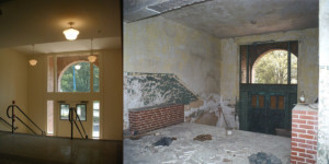 Crogman School Lofts Atlanta, GA interior entrance before and after