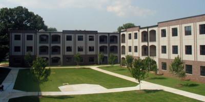 Crogman School Lofts Atlanta, GA exterior courtyard