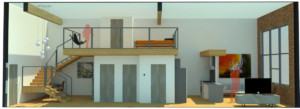 Pryor Street Lofts Redevelopment interior unit rendering