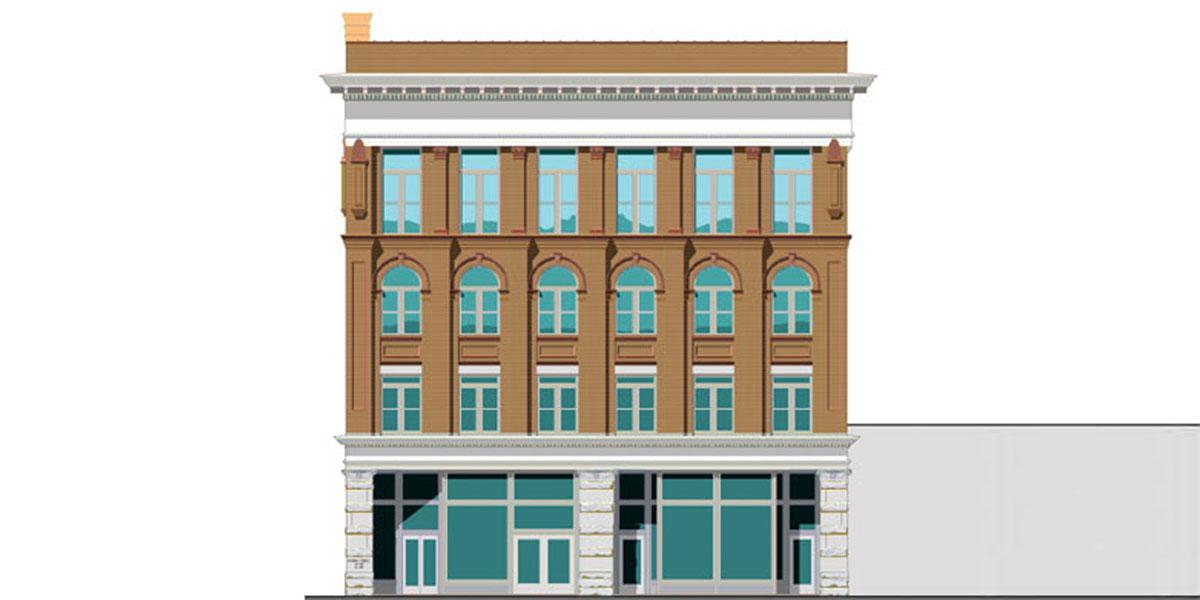 Flowers Building in Columbus, GA exterior rendering