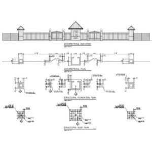 Centennial High School Stadium Gate drawings