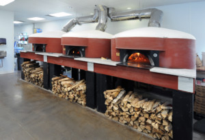 Pizzeria Lucca of Roswell, GA interior wood burning ovens