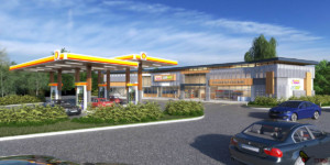 Buckhead Convenience Store Exterior Daytime Rendering