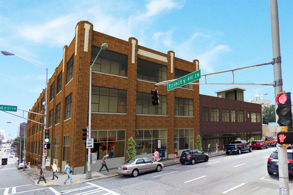 Pryor Street Lofts Redevelopment exterior rendering