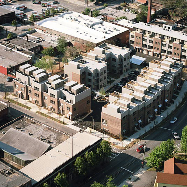 Fair and Walker Lofts aerial view