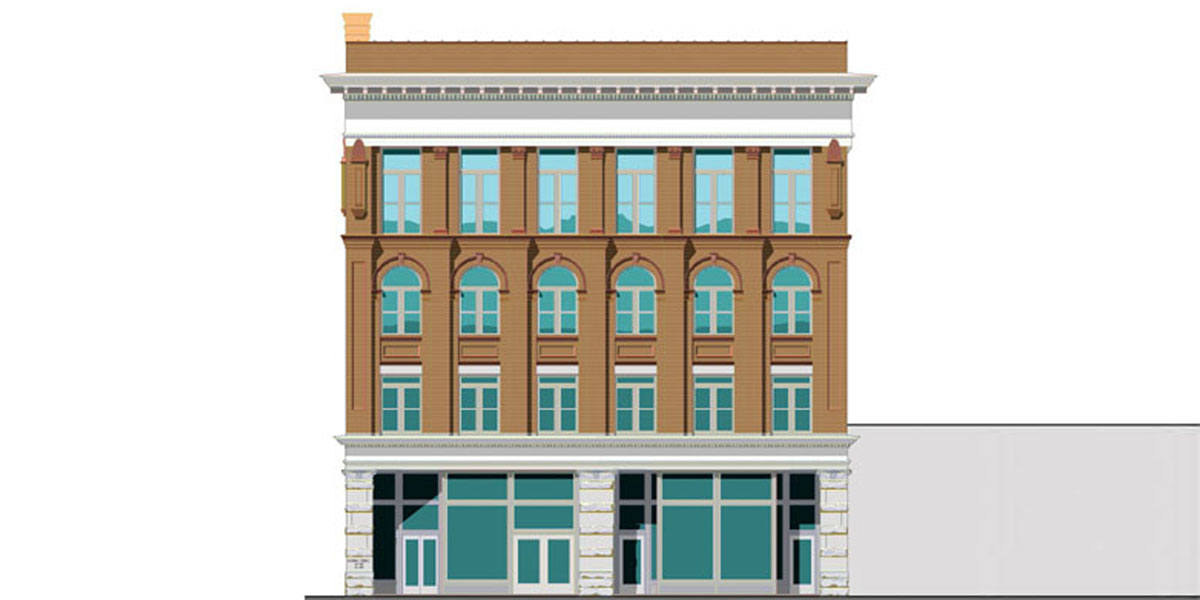 Flowers Building in Columbus, GA exterior rendering