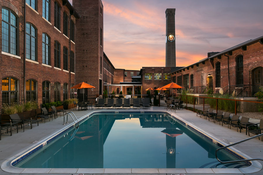 Germantown Mill Lofts Louisville, KY © 2016 RealTourCast exterior pool